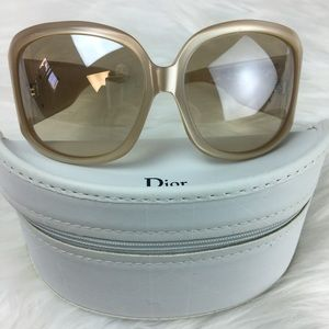 Christian Dior pearl sunglasses w large crystals